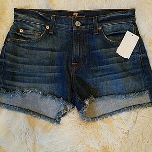 NWT 7 For All Mankind jean shorts
